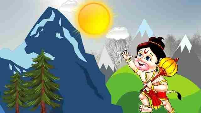 Hanuman Eating Sun Story in Hindi