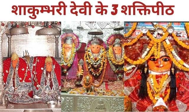 शाकम्भरी देवी के 3 शक्तिपीठ | Shakambhari Temple History in Hindi
